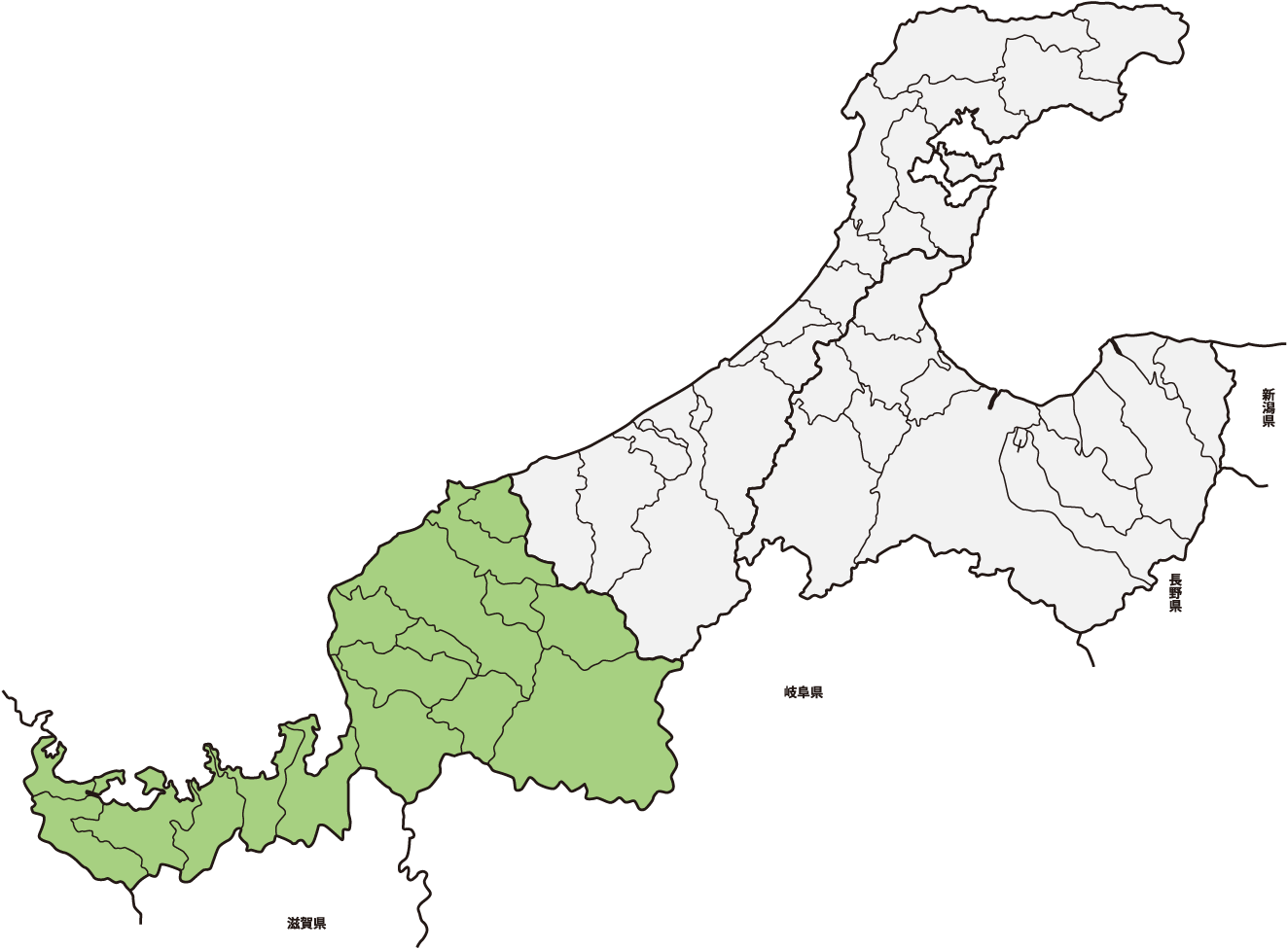 hokuriku map